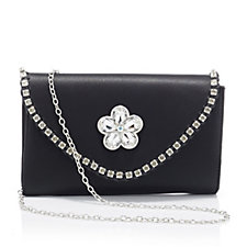 Butler & Wilson Envelope Shape Edge Crystals Cut Glass Flower Bag