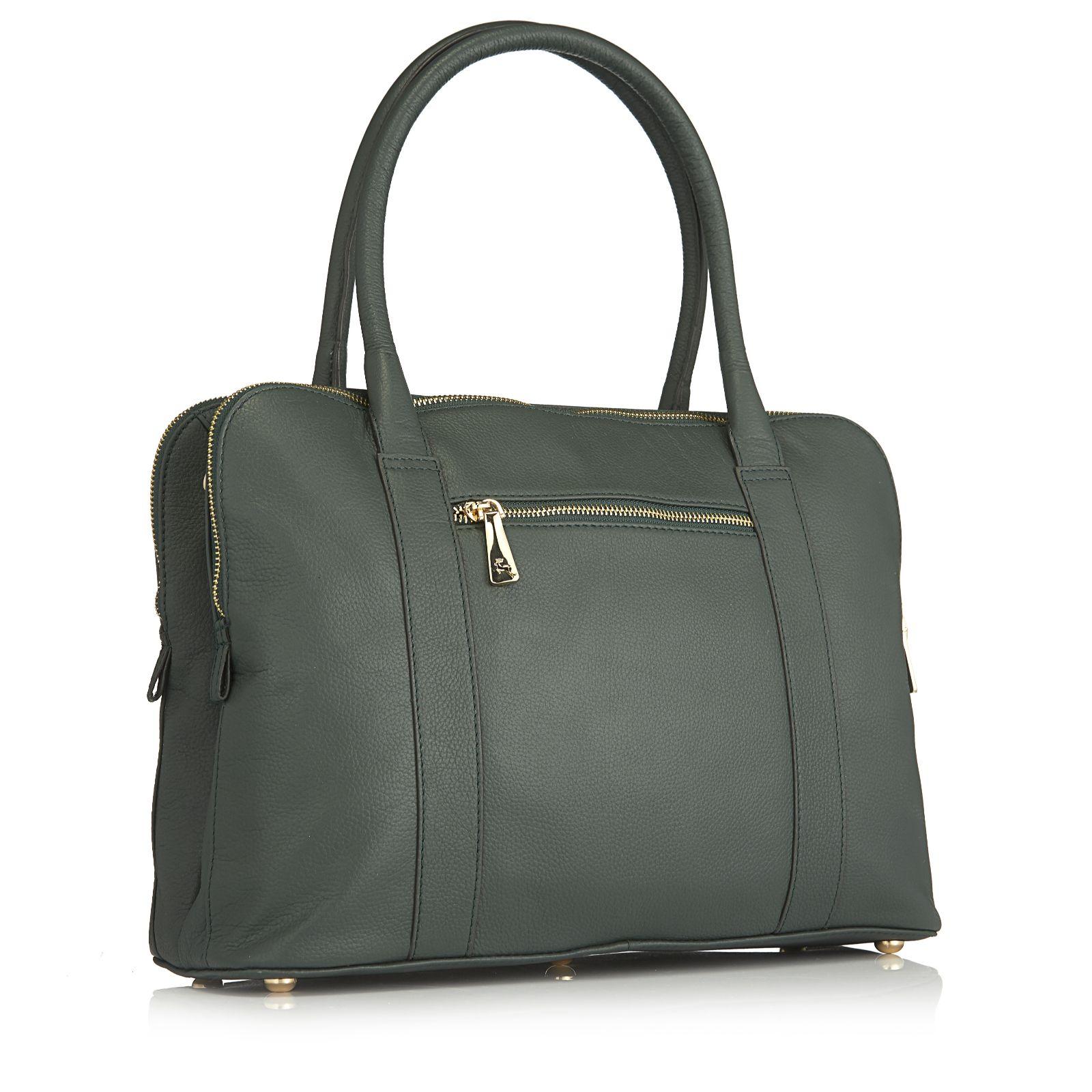 3f9fcc1cdbe Ashwood Leather Triple Compartment Shoulder Bag - QVC UK