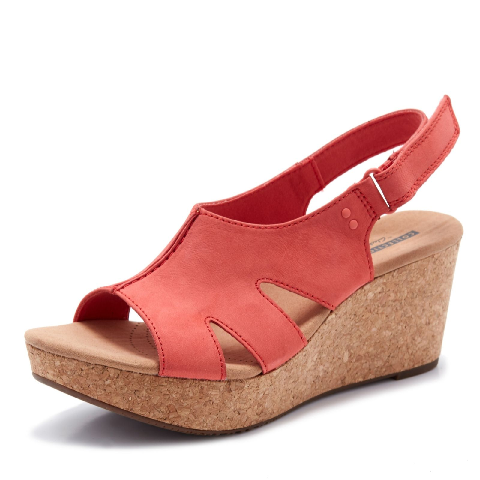 7024779fd01 Clarks Annadel Bari Wedge Sandal Standard Fit - QVC UK