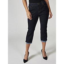 C. Wonder Functional Roll Cuff Crop Jeans Petite