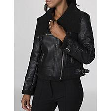 Rino & Pelle Faux Leather Bonded Biker Jacket