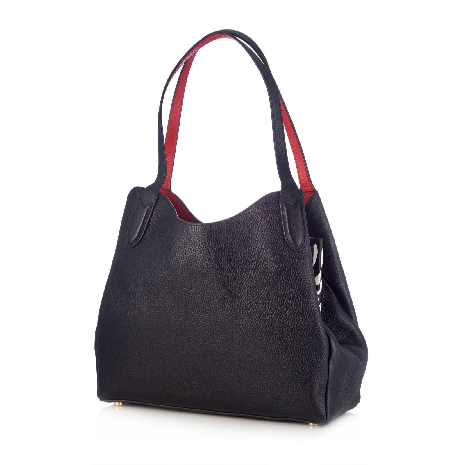 8ebbaadc1706b Lulu Guinness Jackie Leather Shoulder Bag - QVC UK