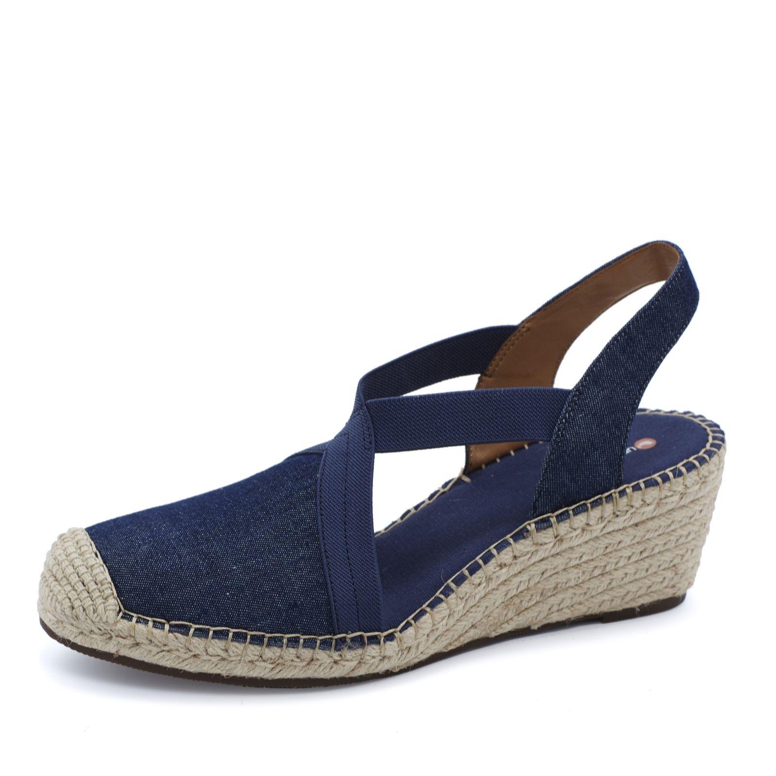 951113a3fc6 Clarks Petrina Lela Espadrille Wedge Sandal Standard Fit - QVC UK