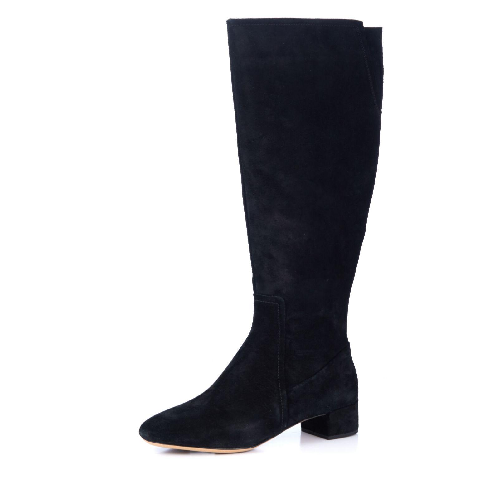 a100610d9a1 Clarks Orabella Ava Block Heel Knee High Boot - QVC UK