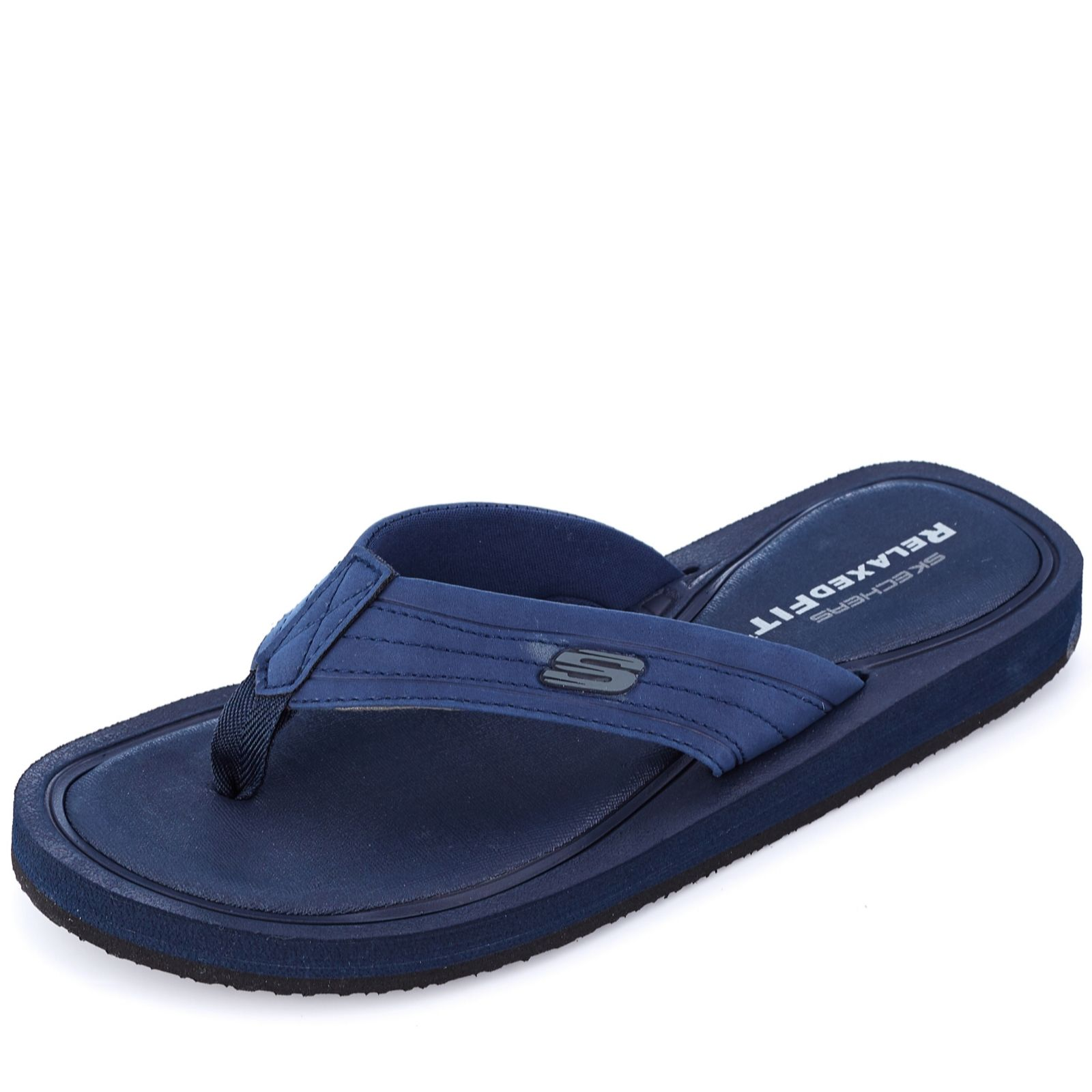 skechers relaxed fit memory foam flip flops
