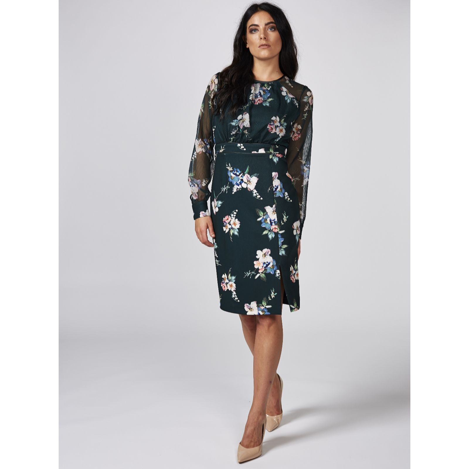 4c57a6cfedf Phase Eight Abrianna Print Dress - QVC UK