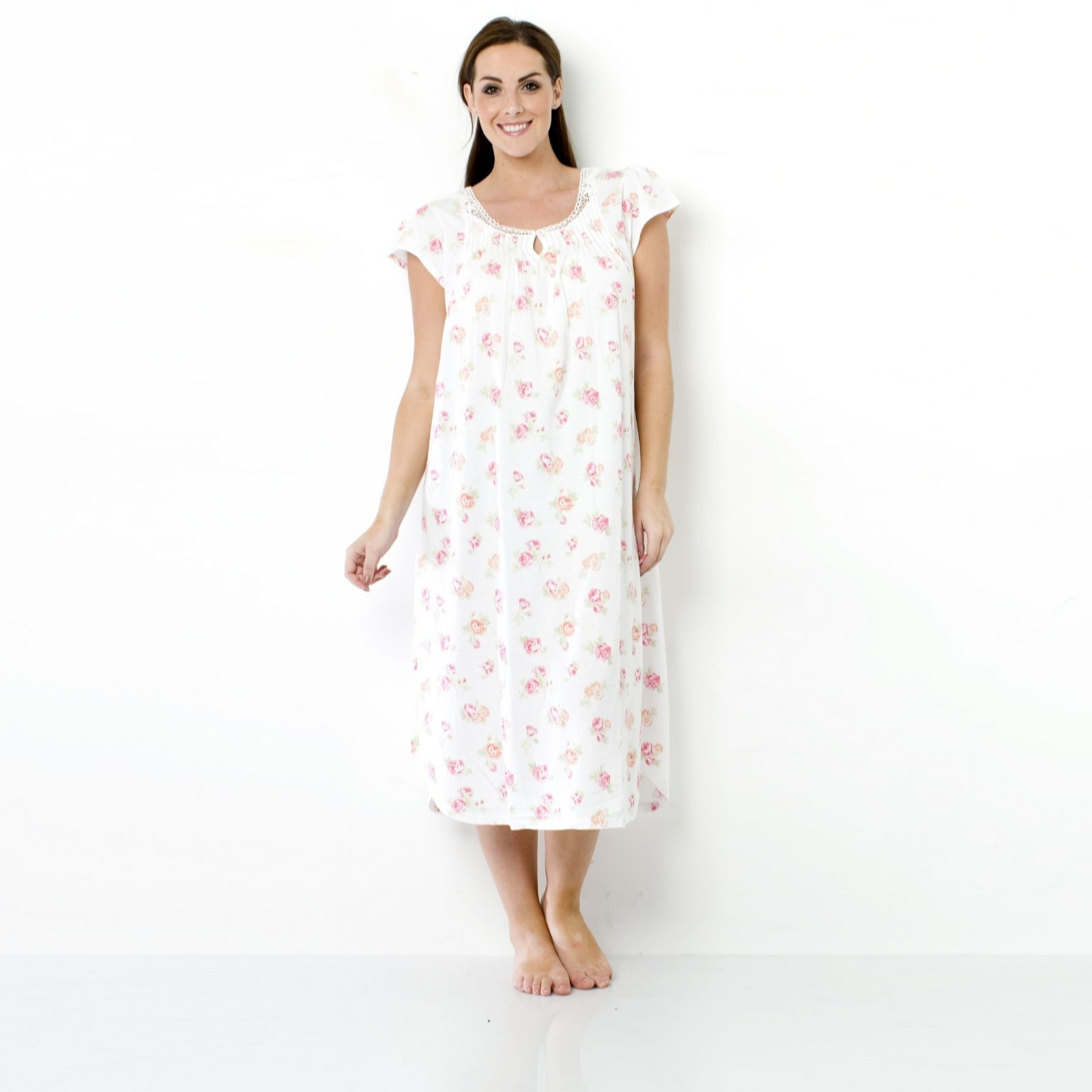 Carole Hochman Jersey Long Nightgown - QVC UK 02eb13dab