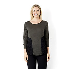 Yong Kim Crinkle Tunic with Contrast Panel Detail