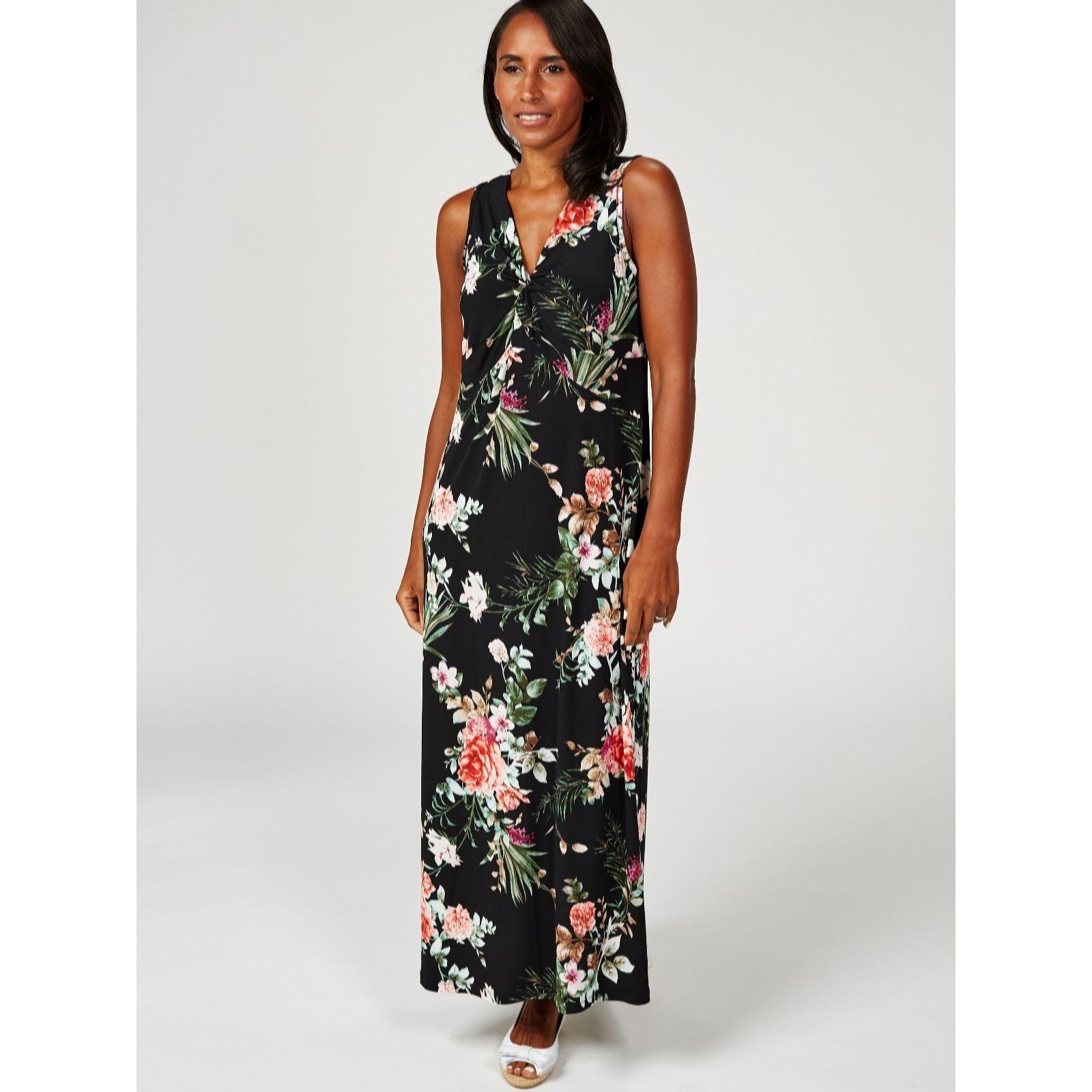 595357478ab4 Kim   Co Brazil Jersey Twist Front Printed Maxi Dress Regular - QVC ...