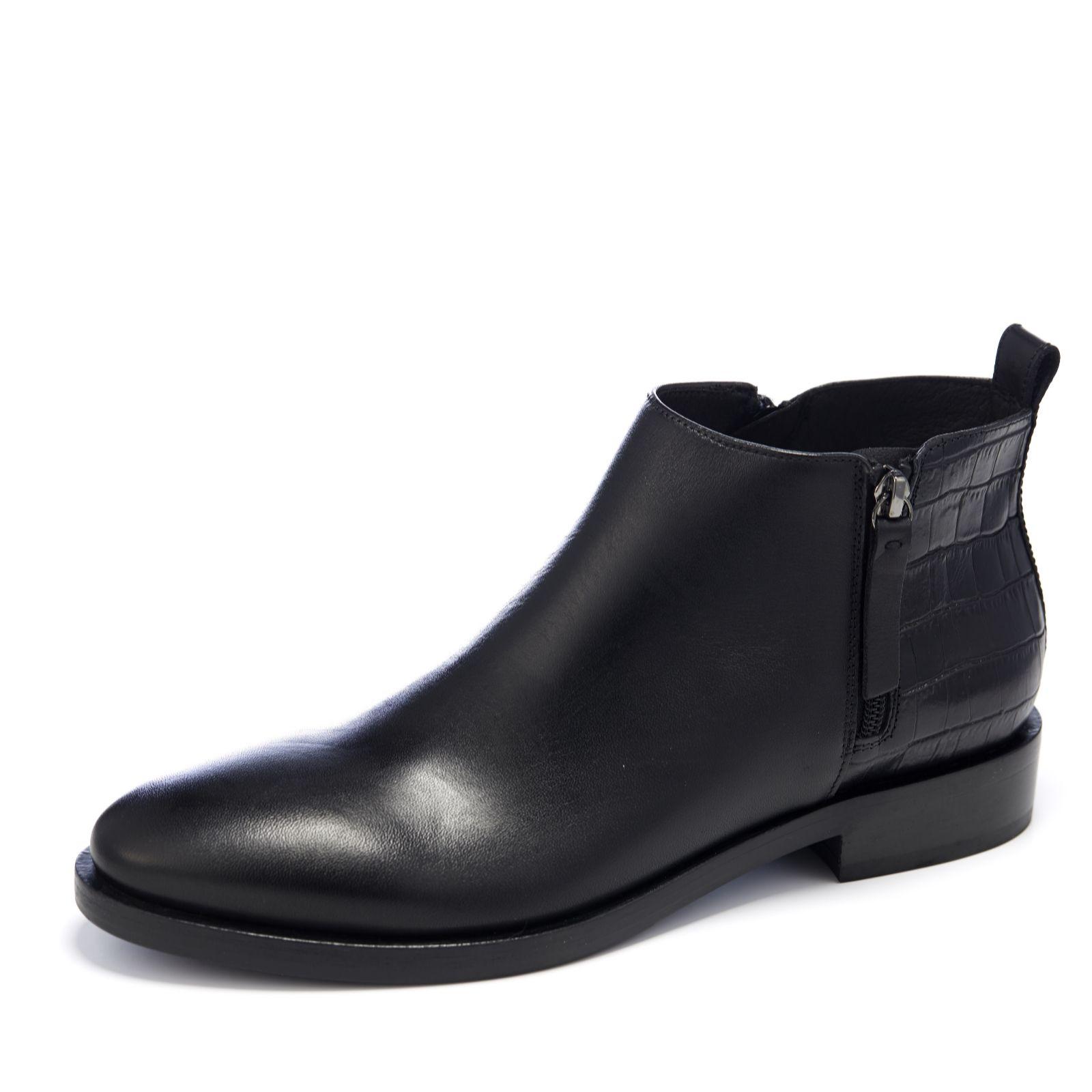 b99daed0a95 Geox Brogue Croc Ankle Boot - QVC UK