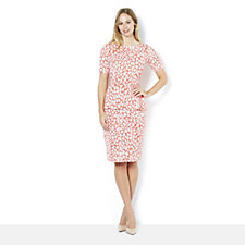 Doris Short Sleeve Peplum Dress by Onjenu London