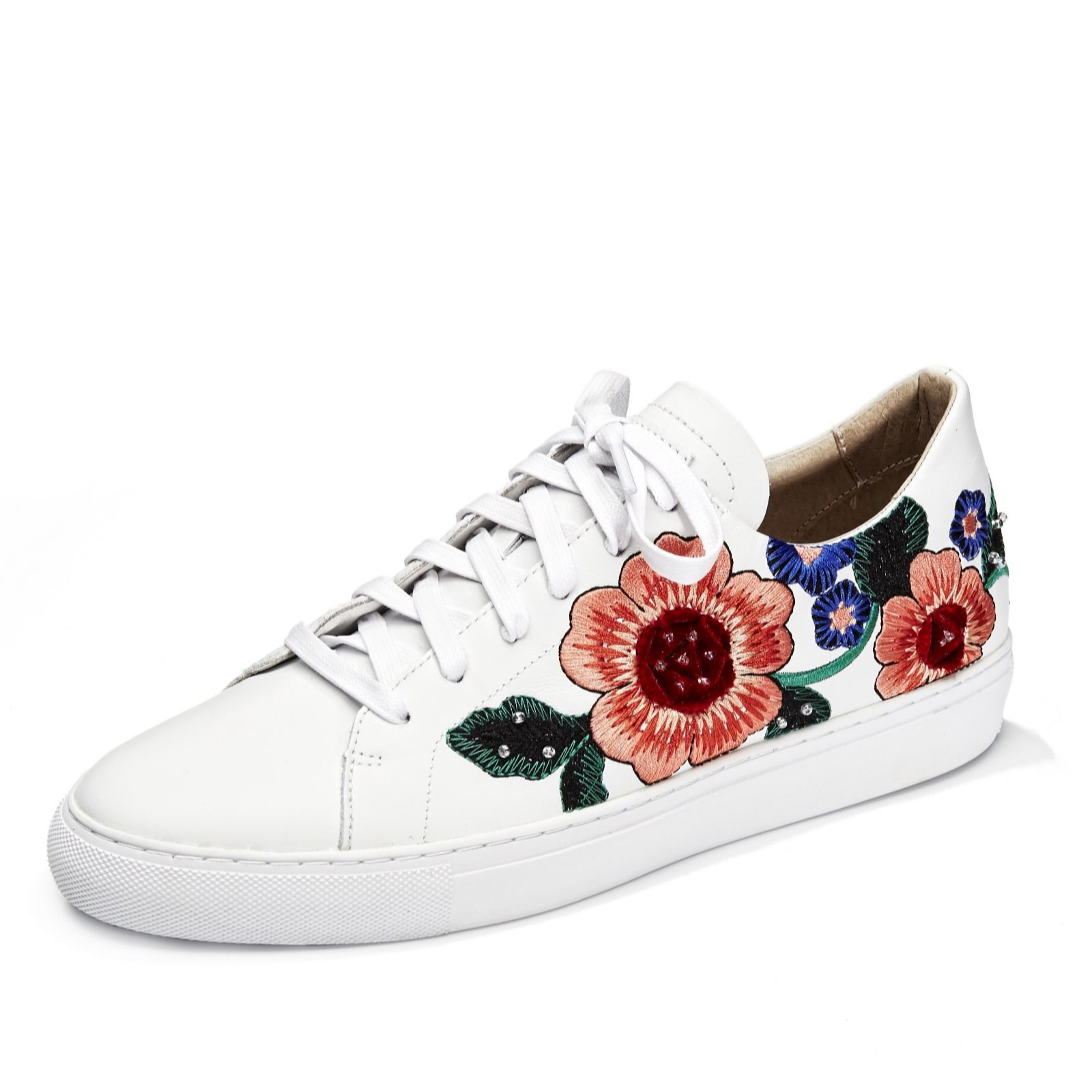 Skechers Vaso Embroidered Floral Trainers QVC UK