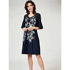 Ronni Nicole Bell Sleeve Placement Print Dress
