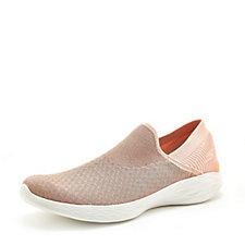 Skechers YOU Transcend Metallic Knit Slip On Shoe