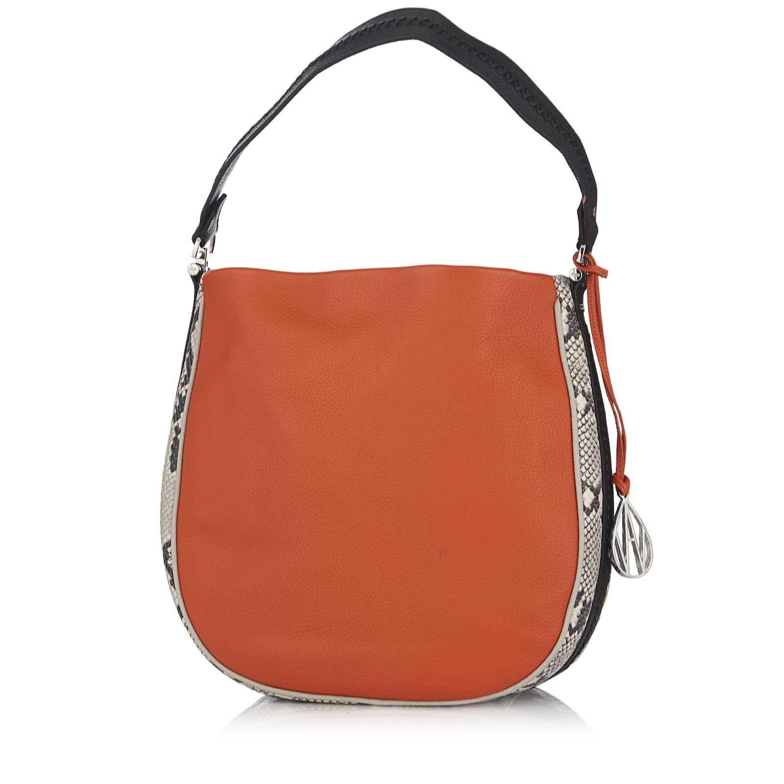 f92f84922 Amanda Wakeley The Midi Mara Leather Hobo Bag - QVC UK