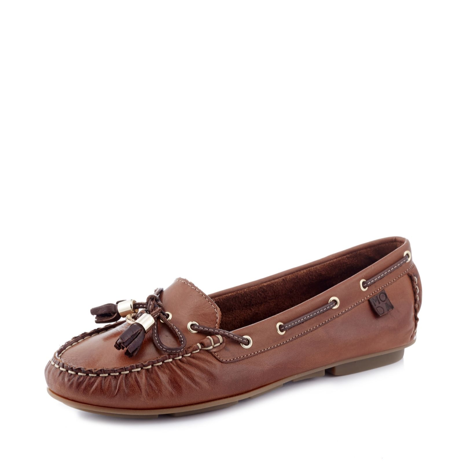 b00b1d23bfd4a1 Moda in Pelle Arcade Moccasin - QVC UK