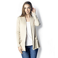 Textured Knit Long Sleeve Cardigan by Susan Graver