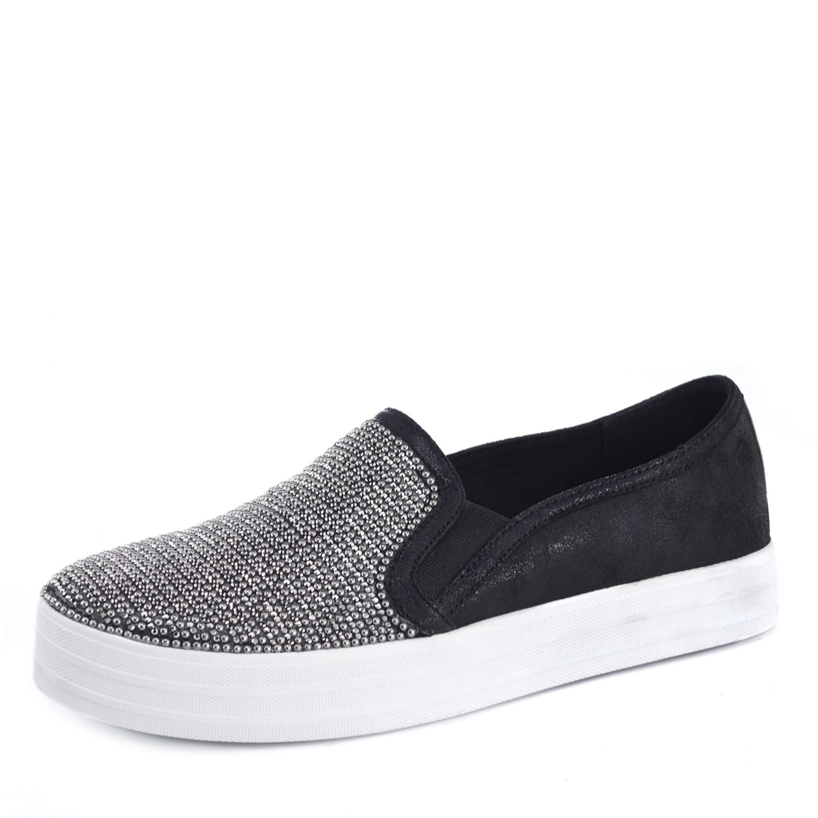 new styles 01a23 816bb Skechers Double Up Shiny Dancer Slip On Trainer - QVC UK
