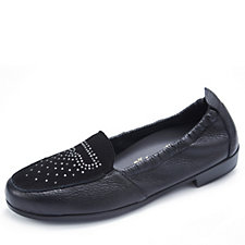 Vitaform Leather Loafer with Stud Detail