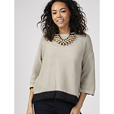 MarlaWynne Box Sweater with Metallic Trim