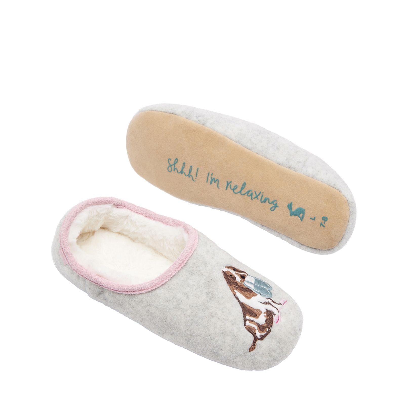b542f6d54359 Joules Applique Slippers - QVC UK