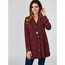 MarlaWynne Lux Crepe Tunic Shirt