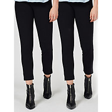 Women with Control Set of Two Tummy Control Trousers Regular