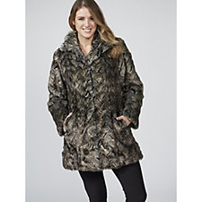 Dennis Basso Platinum Collection Faux Fur Coat