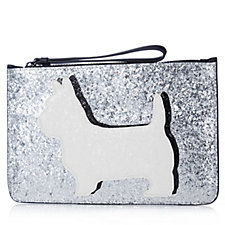 Lulu Guinness Daphne Dog Grace Pouch with Gift Box
