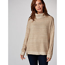 MarlaWynne Plaited Turtleneck Jumper