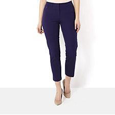 Isaac Mizrahi Live 24/7 Stretch Petite Length Straight Leg Trousers