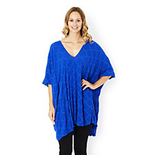 Join Clothes Stretch Jacquard Long Line V Neck Tunic
