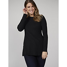 H by Halston Essentials Scoop Neck Long Sleeve Tunic
