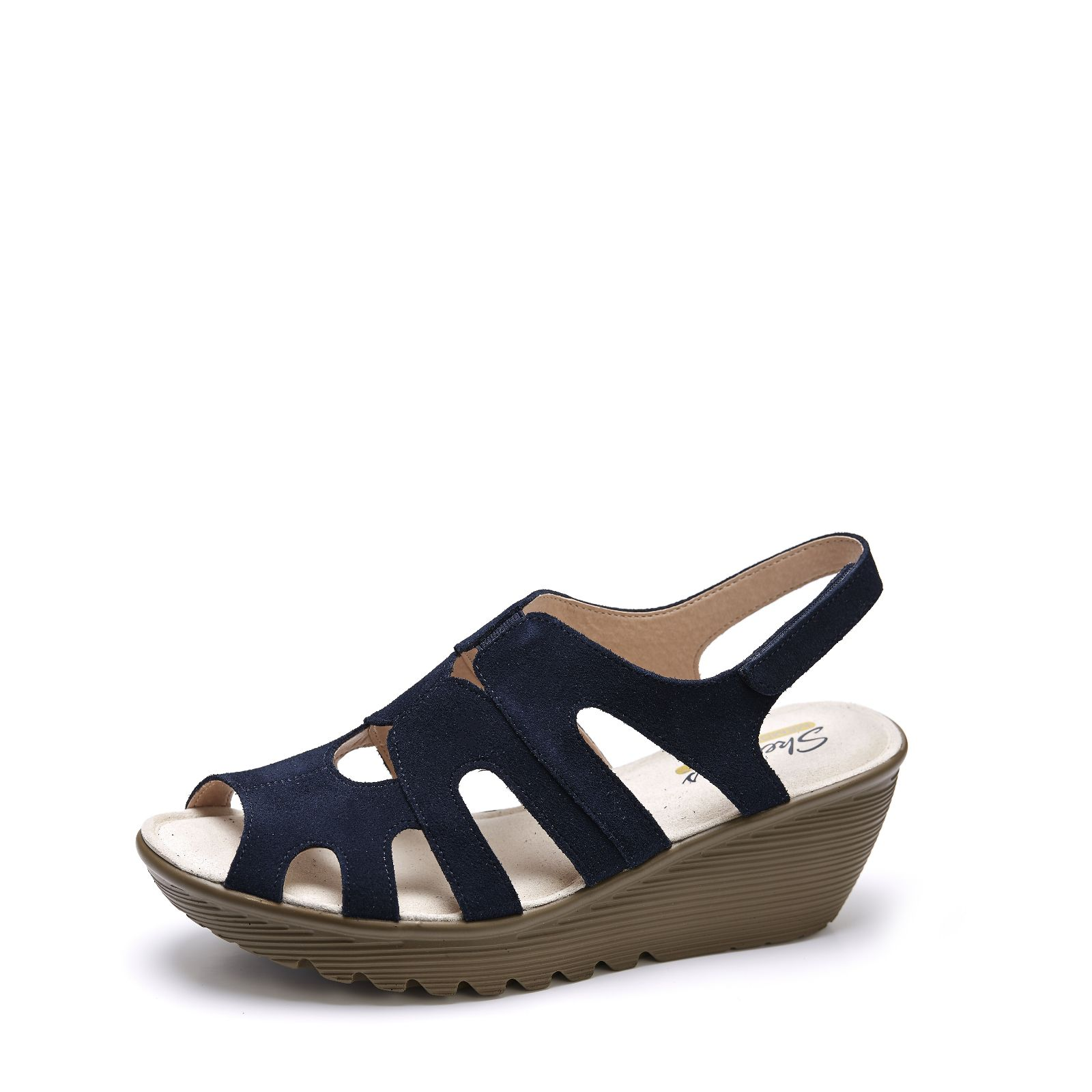 8e12b0f42867 Skechers Cali Parallel Wedge Sandal with Memory Foam - QVC UK