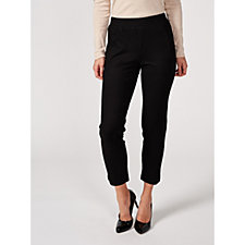 H by Halston Slim Ankle Knit Twill Pull On Trousers Regular