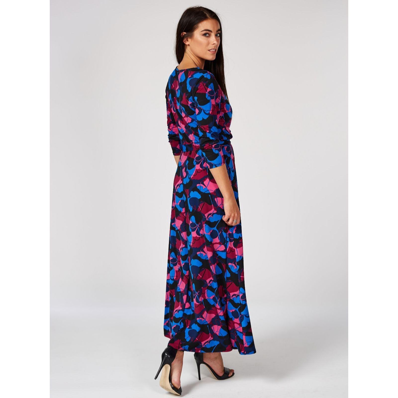 da9ba177a20 Du Jour Printed Faux Wrap Maxi Dress Petite - QVC UK