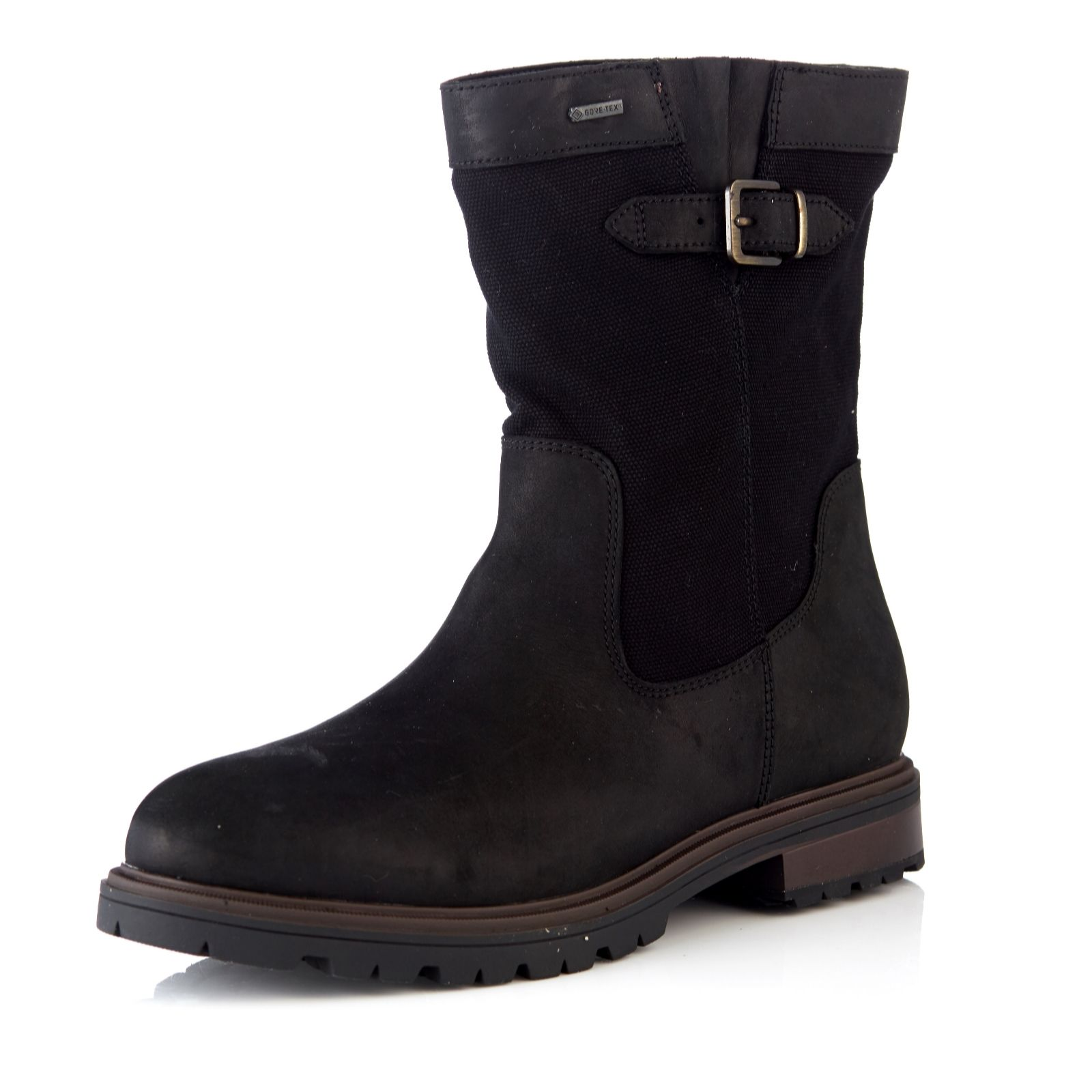 2fec78dd808 Clarks Doxbury Flow GTX Mixed Material Calf Boot Standard Fit - QVC UK