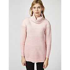 H by Halston Novelty Stitch Turtle Neck Jumper
