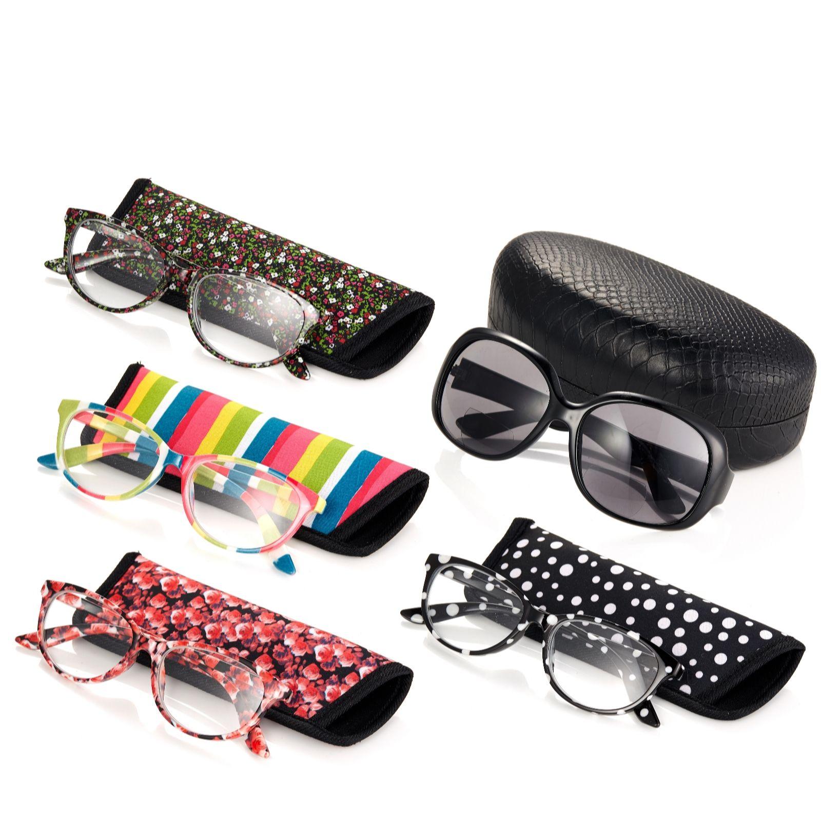 b564d2bb99 Set of 5 Reading Glasses Including 1 Pair of Bifocal Sunglasses - QVC ...