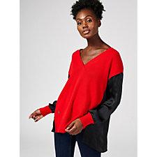 Amanda Wakeley Cashmere Blend V Neck Sweater