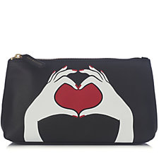Lulu Guinness Heart Hands T-Seam Pouch