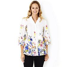 Together Floral Print 3/4 Sleeve Shirt