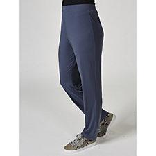 Liquid Knit Straight Leg Regular Trousers by Susan Graver