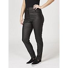 L'Officina della Moda Coated Effect Trousers