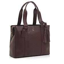 Ashwood Leather Shopper Bag with Tassel