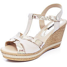 Adesso Tamsin Snake Print Espradrille Wedge Shoe