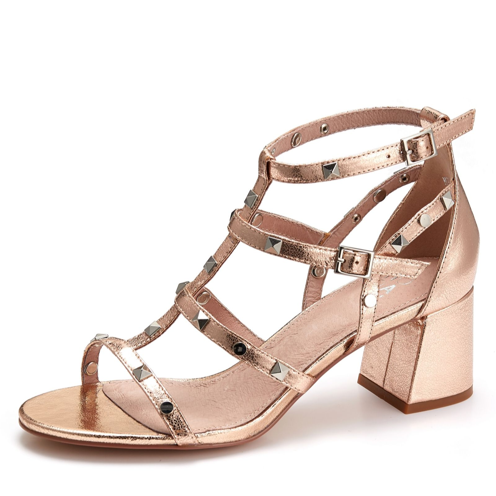 cdd81d05b33 Moda in Pelle Meana Stud Sandal - QVC UK