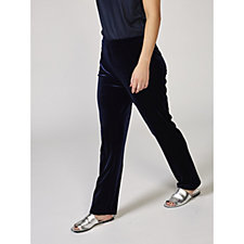 Stretch Velvet Pull-On Trousers by Susan Graver