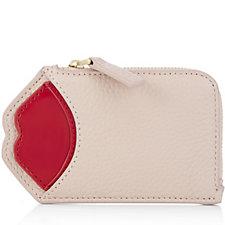Lulu Guinness Liliana Leather Pop Up Lip Wallet