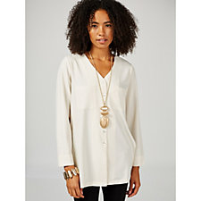 MarlaWynne Front Pocket Tunic Blouse